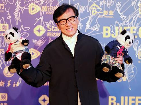 Actor Jackie Chan on the red carpet at the 5th Beijing International Film Festival. In a new white paper, Beijing cites the development of its film and cartoon industries as a sign of its progress on human rights. European Pressphoto Agency