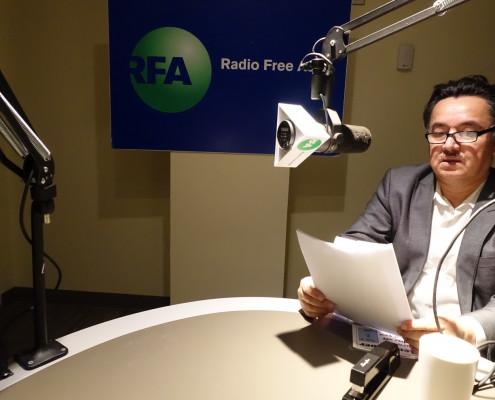 Shohret Hoshur, Washington-based reporter for Radio Free Asia. Chinese authorities have arrested Mr. Hoshur's three brothers. (Smith Augustin Jr. /Radio Free Asia/Courtesy of Smith Augustin Jr. /Radio Free Asia)