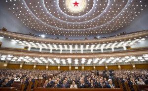 Delegates meeting at the National People's Congress in Beijing. The new regulations clarify the procedure for demoting officials. Photo: Xinhua