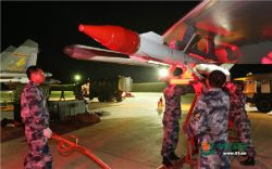 Chinese J-11 regiment night combat training (Photo: PLA website)