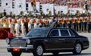 President Xi Jinping inspects troops on Tiannmen Square. Photo: Reuters