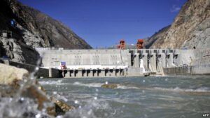 FILE - Picture shows the Zangmu Hydropower Station in Gyaca county in Lhoka, or Shannan prefecture, southwest <a href=