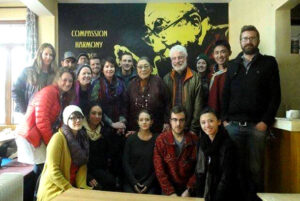 A delegation from University of Denver with Ama Adhe, a mormer Tibetan political <a href=